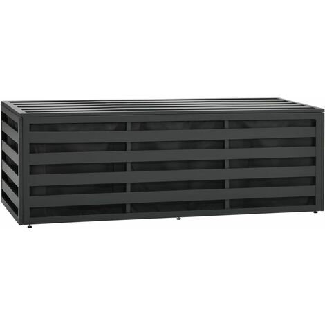 Garden Storage Box Aluminium 150x50x50 cm Anthracite