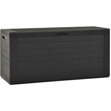Garden Storage Box Anthracite 116x44x55 cm