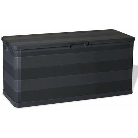 Garden Storage Box Black 117x45x56 cm