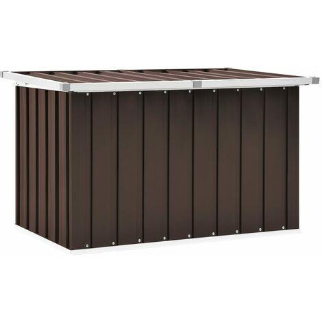 Garden Storage Box Brown 109x67x65 cm - Brown