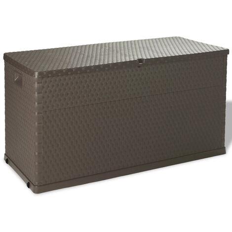 Garden Storage Box Brown 120x56x63 cm