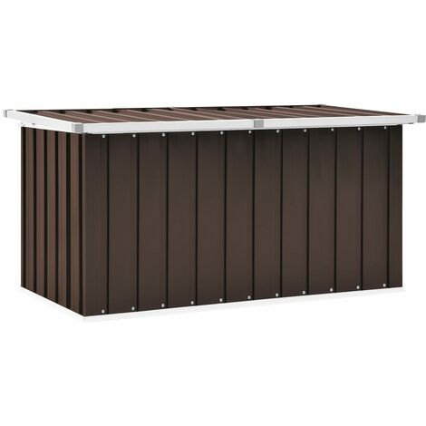 Garden Storage Box Brown 129x67x65 cm