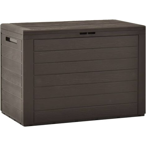 Garden Storage Box Brown 78x44x55 cm