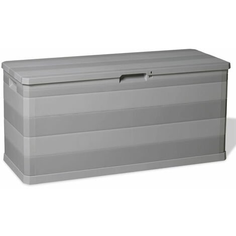Garden Storage Box Grey 117x45x56 cm