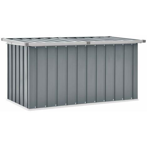Garden Storage Box Grey 129x67x65 cm