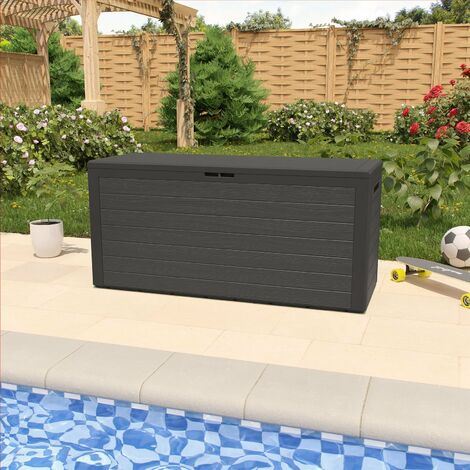"""main image of """"Garden Storage Box Outdoor Cushion Tool 324L Chest 45x120x60cm Plastic Deck Container"""""""