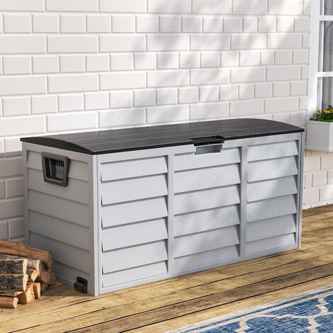 Garden Storage Box Outdoor Cushions Tools 290 Liter Chest 112 x 49 x 54 cm
