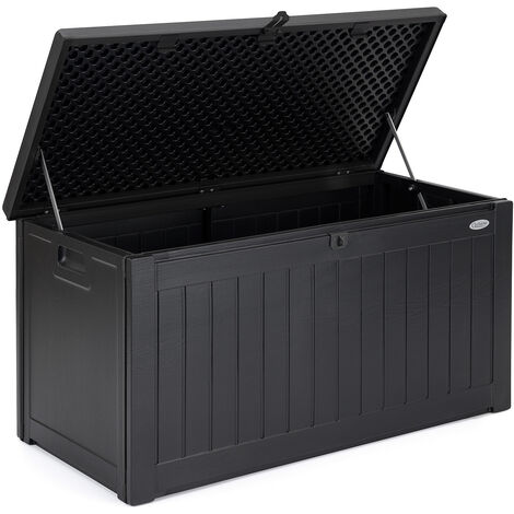 Garden Storage Box Waterproof Outdoor Utility Cushion Tool Chest 190L Christow
