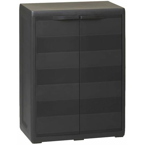 Garden Storage Cabinet with 1 Shelf Black