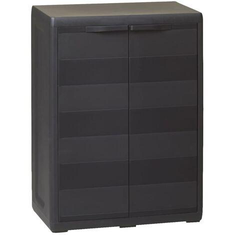 Garden Storage Cabinet with 1 Shelf Black - Black