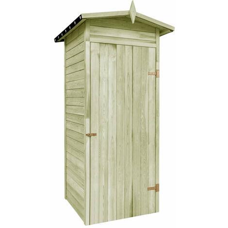 Garden Storage Shed FSC Impregnated Pinewood 100x100x210 cm