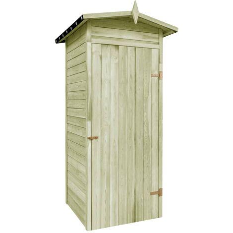 Garden Storage Shed Impregnated Pinewood 100x100x210 cm - Brown