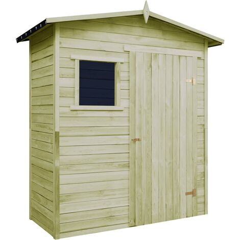 Garden Storage Shed Impregnated Pinewood - Brown