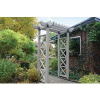 Garden Structure - Entry Arbour with X Panels