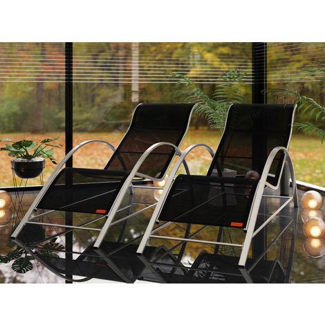 Garden Sun Lounger Set with Side Table Outdoor Patio Balcony Terrace