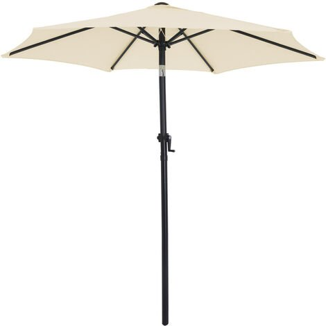 Garden Sun Parasol 2m Aluminium UV40+ Patio Umbrella Canopy Shade Crank Handle