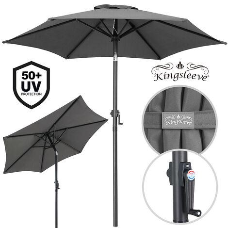 """main image of """"Garden Sun Parasol 2m Aluminium UV50+ Patio Umbrella Canopy Shade Crank Handle Beige"""""""
