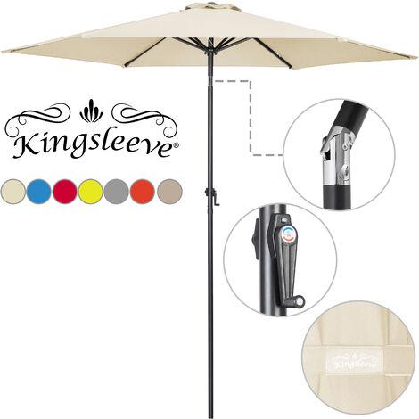 Garden Sun Parasol Aluminium Patio Umbrella Crank Handle Ø 300cm Sun Shade Cover