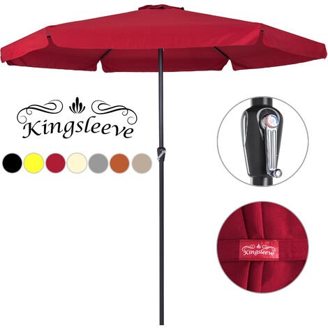 Garden Sun Parasol Umbrella with Crank Handle Patio Sun Shade 3.3 m Sun Cover