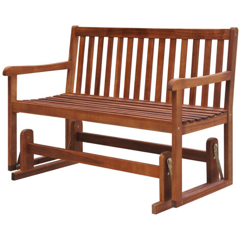 Garden Swing Bench 125 cm Solid Acacia Wood