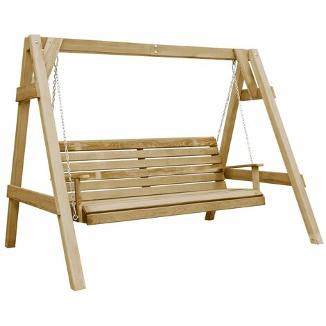 Garden Swing Bench Impregnated Pinewood 205x150x157 cm