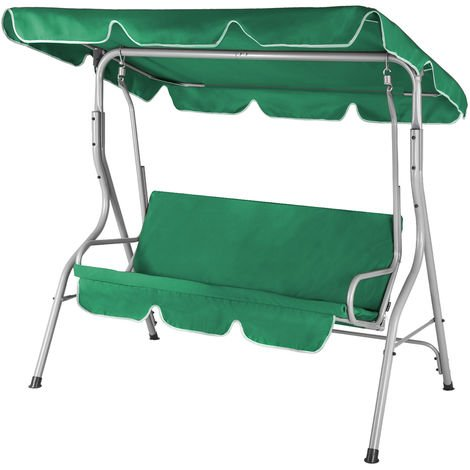 Garden Swing Canopy 3 Seater Patio Hammock 250kg Indoor Cushion Bench Outdoor