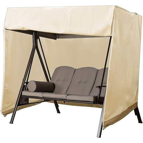 Garden swing cover, Oxford Outdoor Waterproof Waterproof Oxford Tarpaulin Oxford Tarpaulin Swing Cover (Beige)