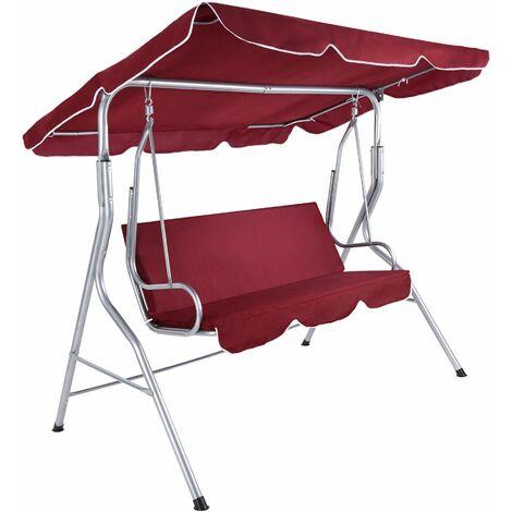 Garden swing seat - garden swing chair, swing chair, hanging garden chair - burgundy