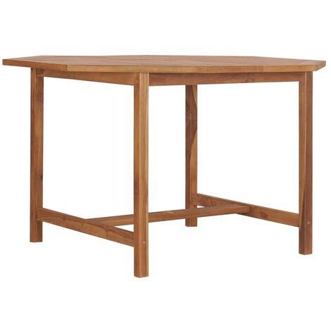 Garden Table 120x120x75 cm Solid Teak Wood - Brown