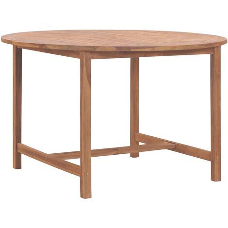 Garden Table 120x76 cm Solid Teak Wood - Brown