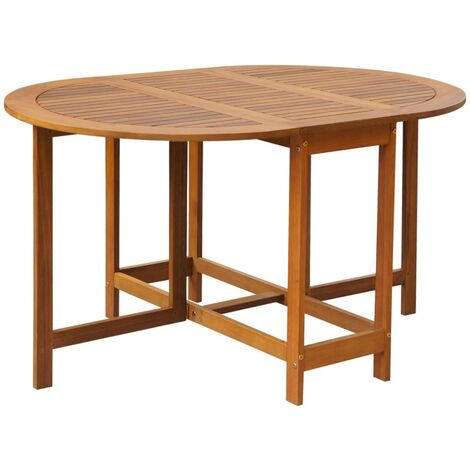 Garden Table 130x90x72 cm Solid Acacia Wood