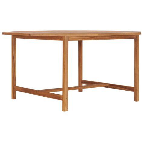 Garden Table 150x150x75 cm Solid Teak Wood