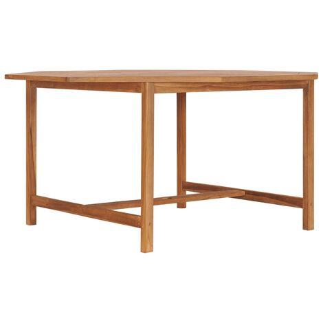 Garden Table 150x150x75 cm Solid Teak Wood - Brown