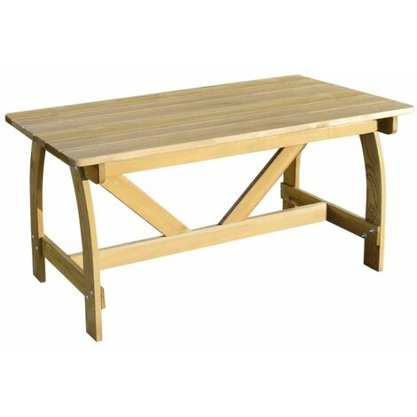 Garden Table 150x74x75 cm Impregnated Pinewood