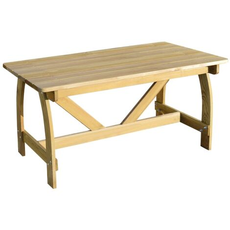 Garden Table 150x74x75 cm Impregnated Pinewood - Brown