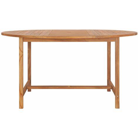 Garden Table 150x76 cm Solid Teak Wood