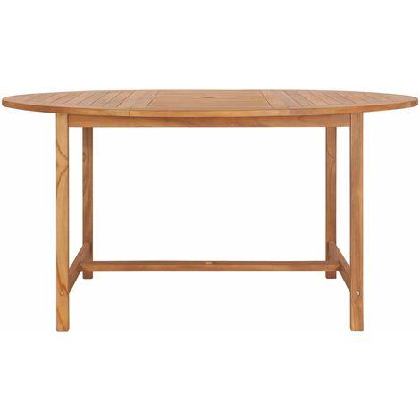 Garden Table 150x76 cm Solid Teak Wood - Brown