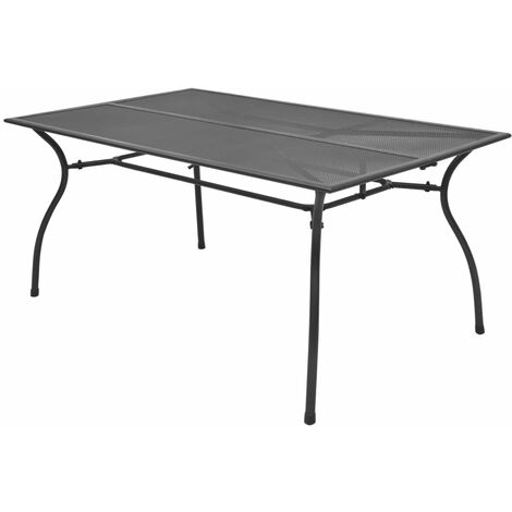 Garden Table 150x90x72 cm Steel Mesh