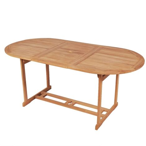 Garden Table 180x90x75 cm Solid Teak Wood