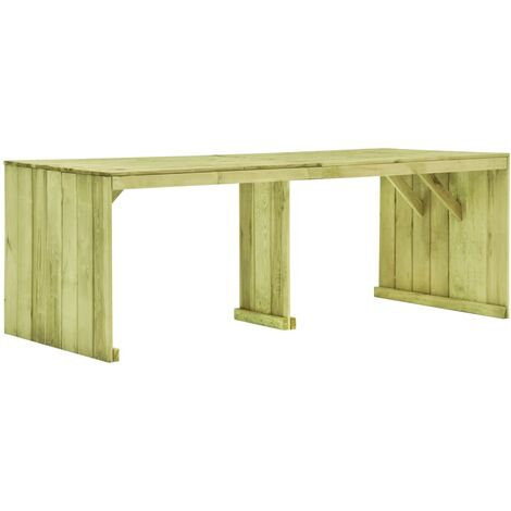 Garden Table 220x101.5x80 cm Impregnated Pinewood - Green