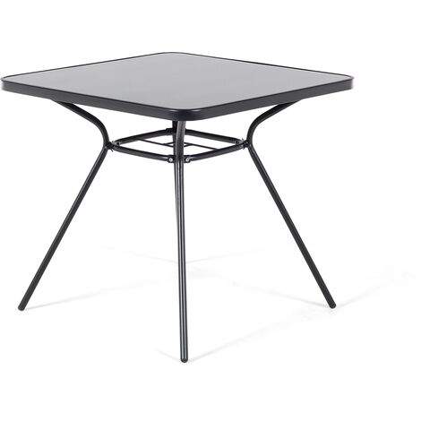 Garden Table 80 x 80 cm Black LIVO