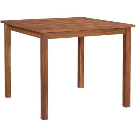 Garden Table 85x85x74 cm Solid Acacia Wood
