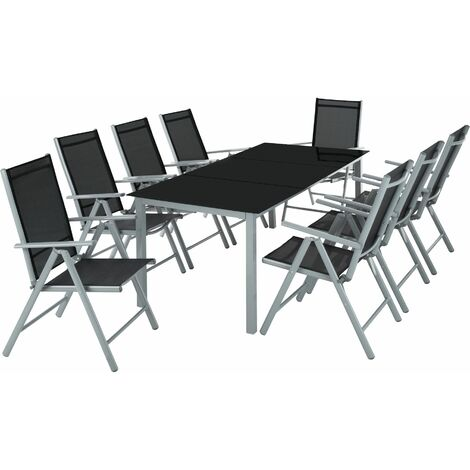 Garden Table and chairs furniture set 8+1 - outdoor table and chairs, garden table and chairs set, patio set