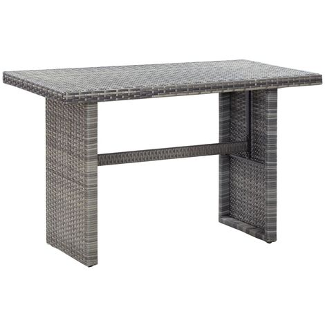 Garden Table Anthracite 110x60x67 cm Poly Rattan