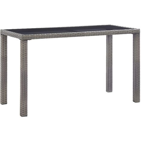 Garden Table Anthracite 123x60x74 cm Poly Rattan - Anthracite