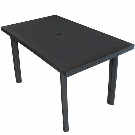 Garden Table Anthracite 126x76x72 cm Plastic
