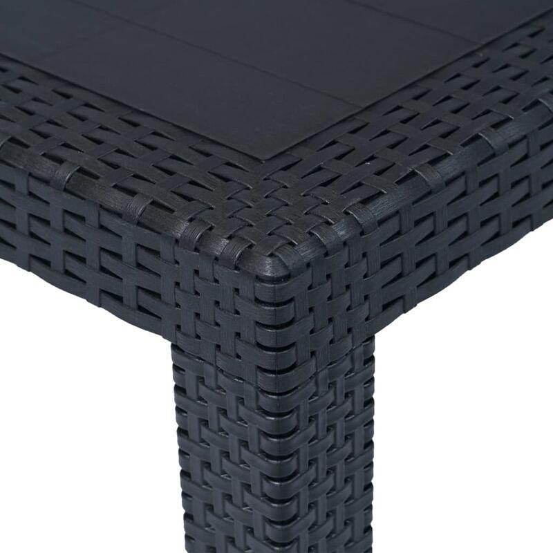 vidaXL Garden Table White 70cm Plastic Weather-resistant Outdoor Bistro Desk