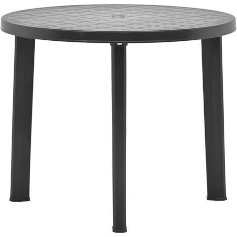 Garden Table Anthracite 89 cm Plastic