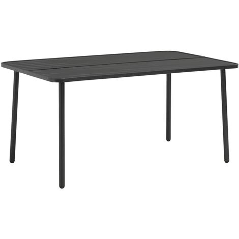 Garden Table Dark Grey 150x90x72 cm Steel