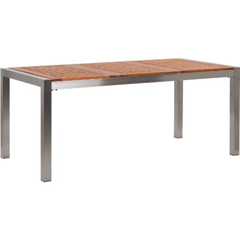 Garden Table Eucalyptus Wood Top 180 x 90 cm GROSSETO
